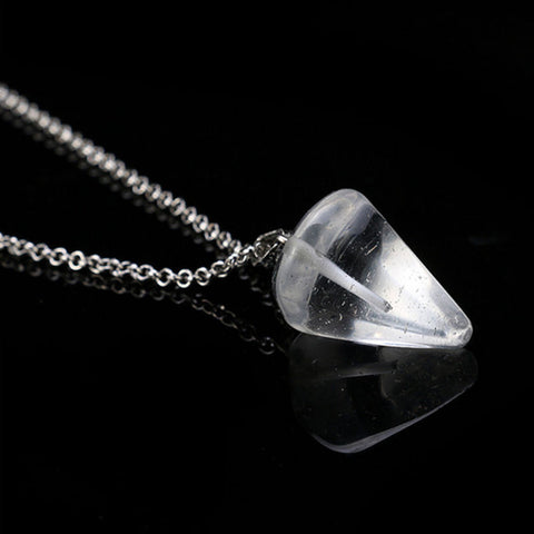 Clear Quartz Faceted Pendulum Pendant