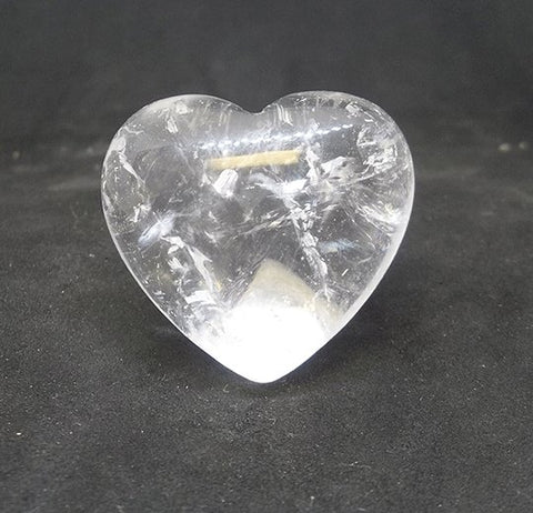 Clear Quartz Gemstone Heart