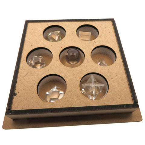 Clear Quartz Gemstone Sacred Geometry Boxed Set