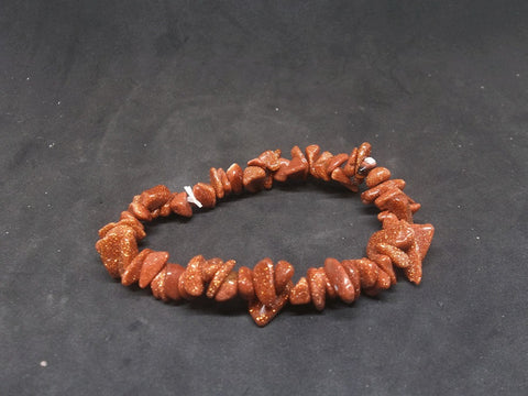 Goldstone Gemstone Chip Bracelet