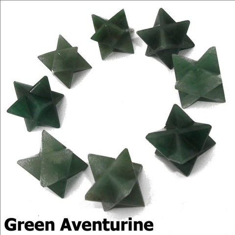 Green Aventurine Polished Merkaba Star
