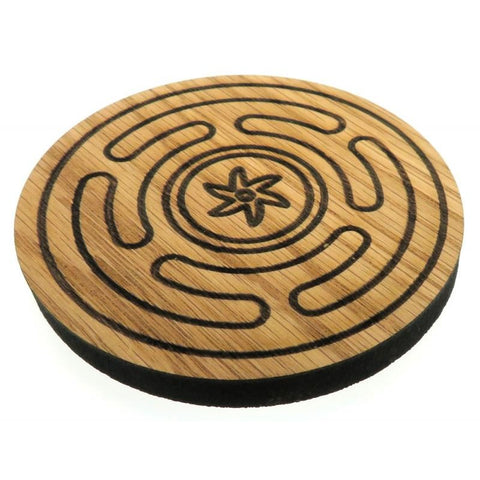 Oak Veneer Hecates Wheel Crystal Grid Board