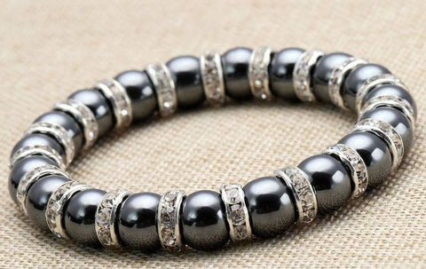 Hematite Spacer Bracelet - The Crystal Healing Shop - 1