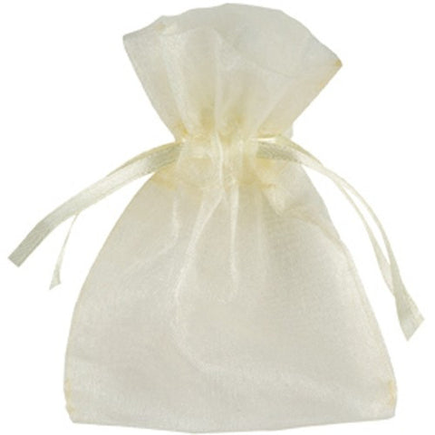 Organza Bag - Ivory - 7cm x 9cm - The Crystal Healing Shop