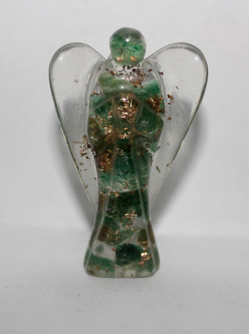 Jade Orgone Carved Angel - 5 cm