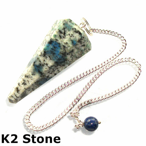 K2 Faceted Gemstone Dowsing Pendulum