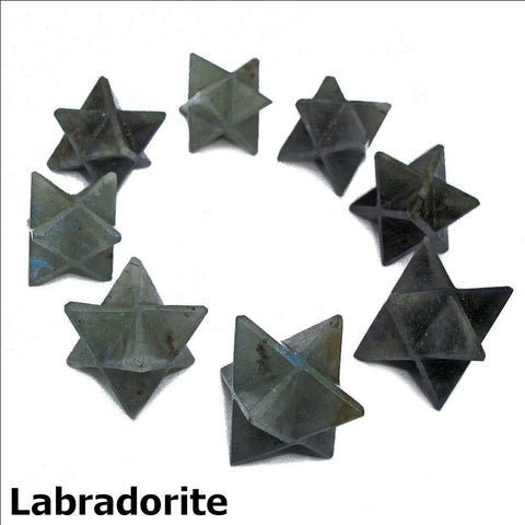 Labradorite Polished Merkaba Star