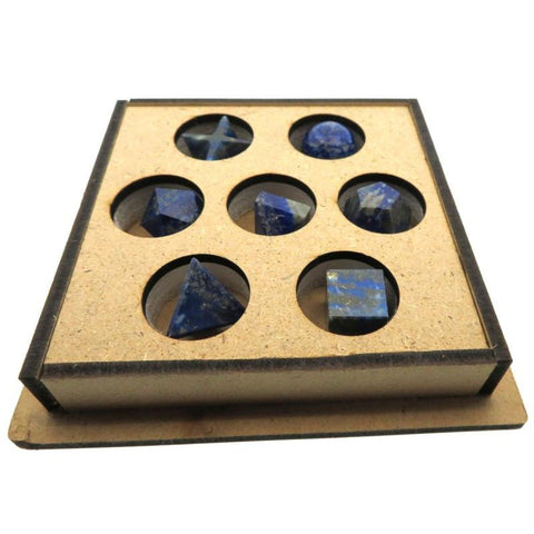 Lapis Lazuli Gemstone Sacred Geometry Boxed Set