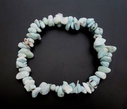 Larimar Gemstone Chip Bracelet