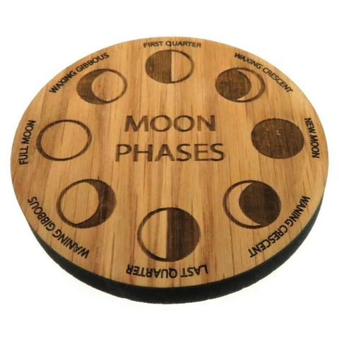 Oak Veneer Moon Phases Crystal Grid Board