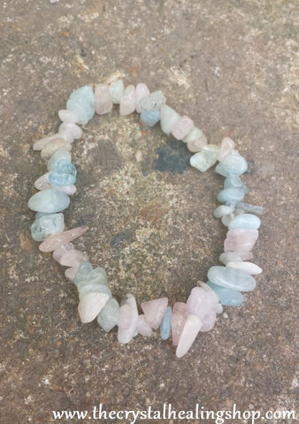 Morganite Gemstone Chip Bracelet