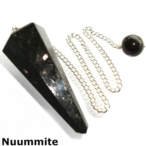 Nuummite Faceted Gemstone Dowsing Pendulum