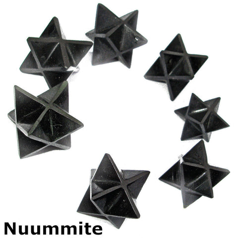 Nuummite Polished Merkaba Star