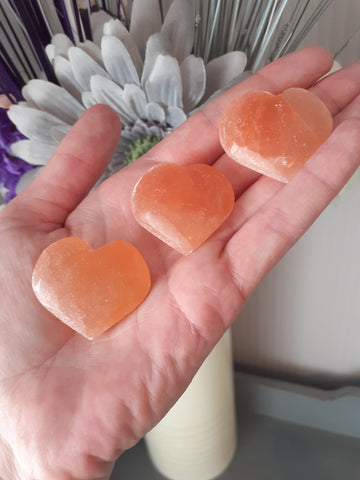 Orange Selenite Polished Heart - The Crystal Healing Shop