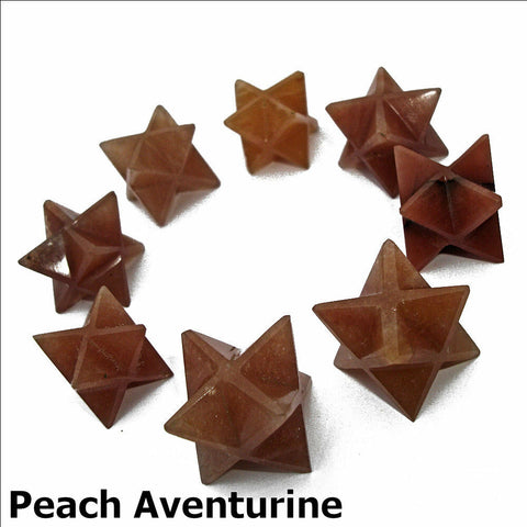 Peach Aventurine Polished Merkaba Star