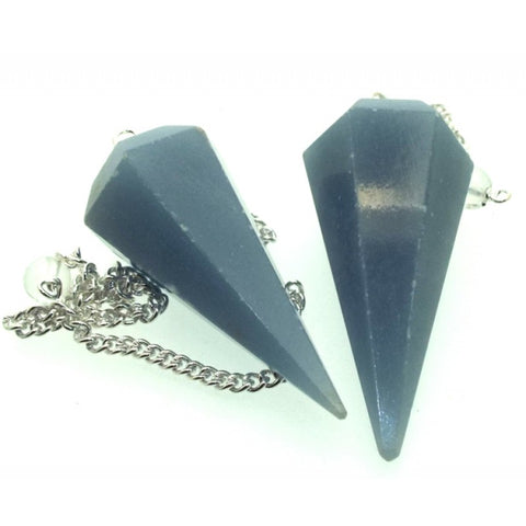Peruvian Angelite Faceted Pendulum