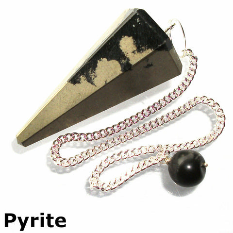 Pyrite Faceted Gemstone Dowsing Pendulum