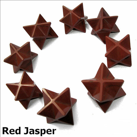 Red Jasper Polished Merkaba Star