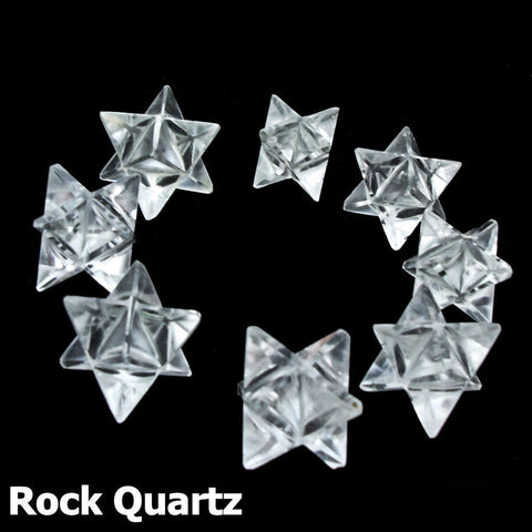 Rock Quartz Polished Merkaba Star