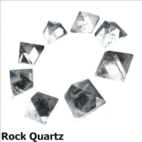 Rock Quartz Gemstone Pyramid