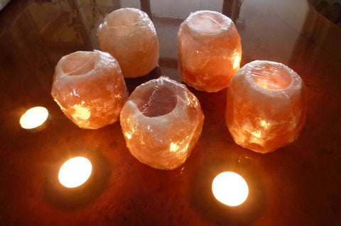 Himalayan Rock Salt Tea Light Holder - The Crystal Healing Shop - 1