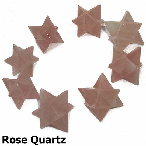 Rose Quartz Polished Merkaba Star