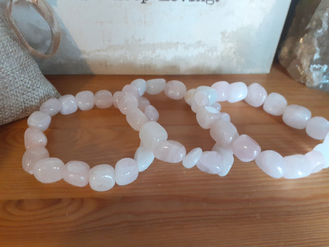 Rose Quartz Tumbled Stone Bracelet
