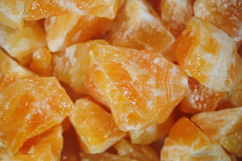 Rough Orange Calcite - 5 Pieces - The Crystal Healing Shop