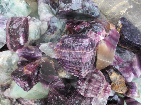 Rough Purple Fluorite - 1 Piece