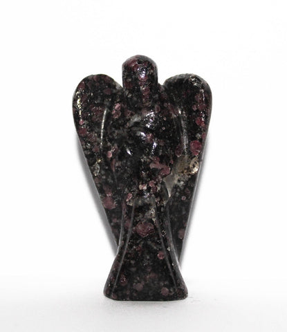 Ruby in Tourmaline Carved Angel - 5 cm