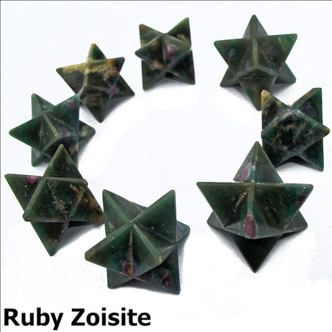 Ruby in Zoisite Polished Merkaba Star
