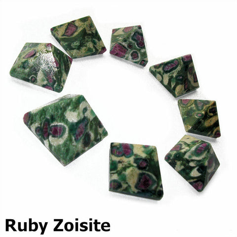 Ruby in Zoisite Gemstone Pyramid