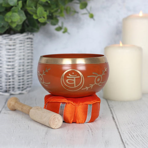 Sacral Chakra Brass Tibetan Singing Bowl