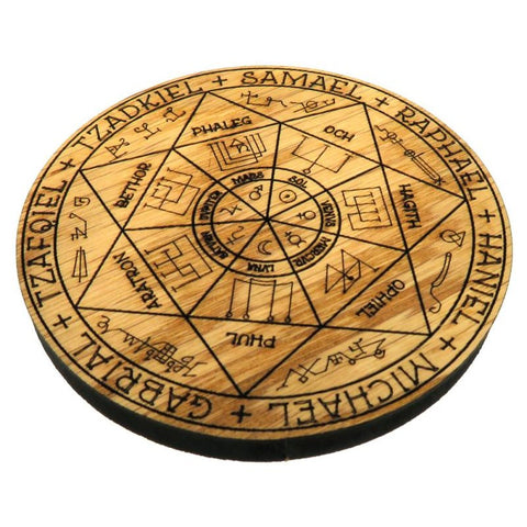 Oak Veneer 7 Archangels Crystal Grid Board