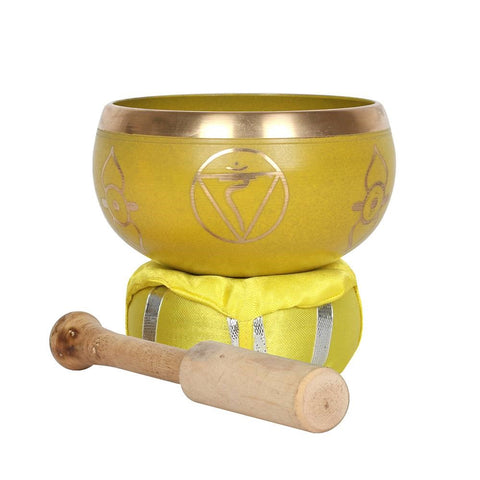 Solar Plexus Chakra Brass Tibetan Singing Bowl