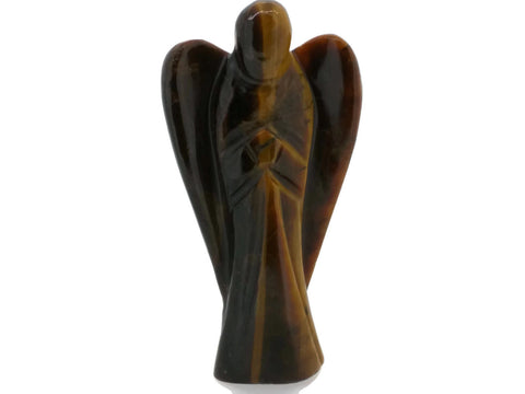 Tigers Eye Carved Angel - 5 cm