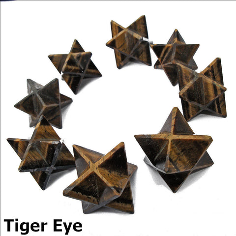 Tigers Eye Polished Merkaba Star