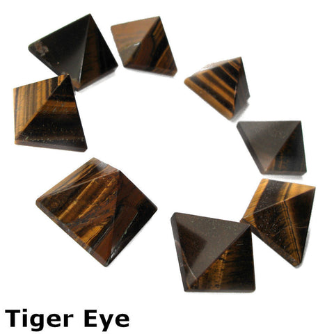 Tigers Eye Gemstone Pyramid