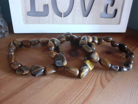 Tigers Eye Tumbled Stone Bracelet