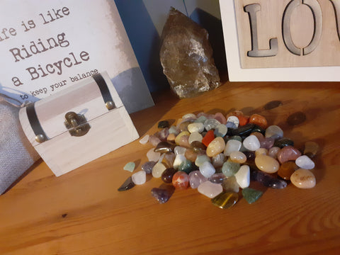 Tumbled Stone Treasure Chest