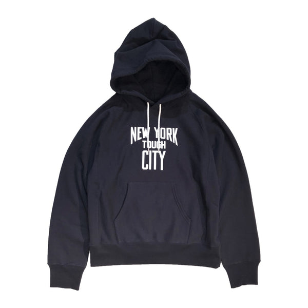 NEW YORK TOUGH CITY pullover hoodie.