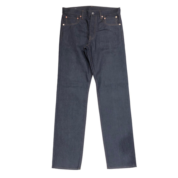 slim straight 6 pocket jean.