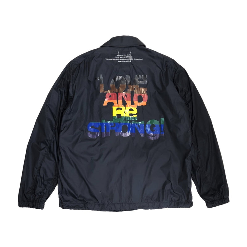 LOVE AND BE STORONG! coach jacket.