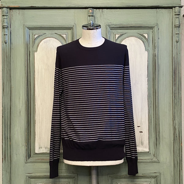 border stripes l/s sweater.