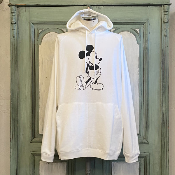 oversized Mickey Mouse pullover hoodie.