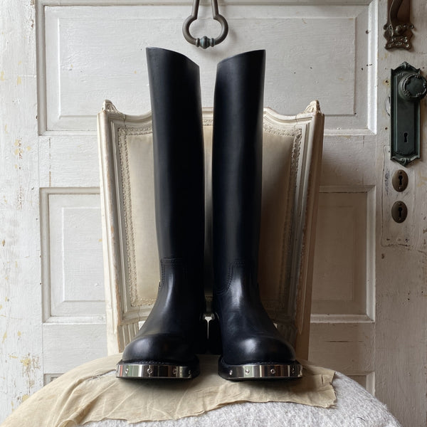 horse riding boots.