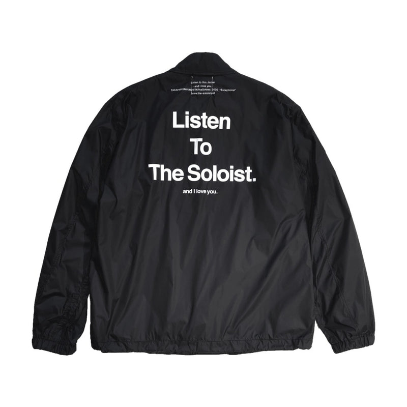 Listen To The Soloist. coach jacket.