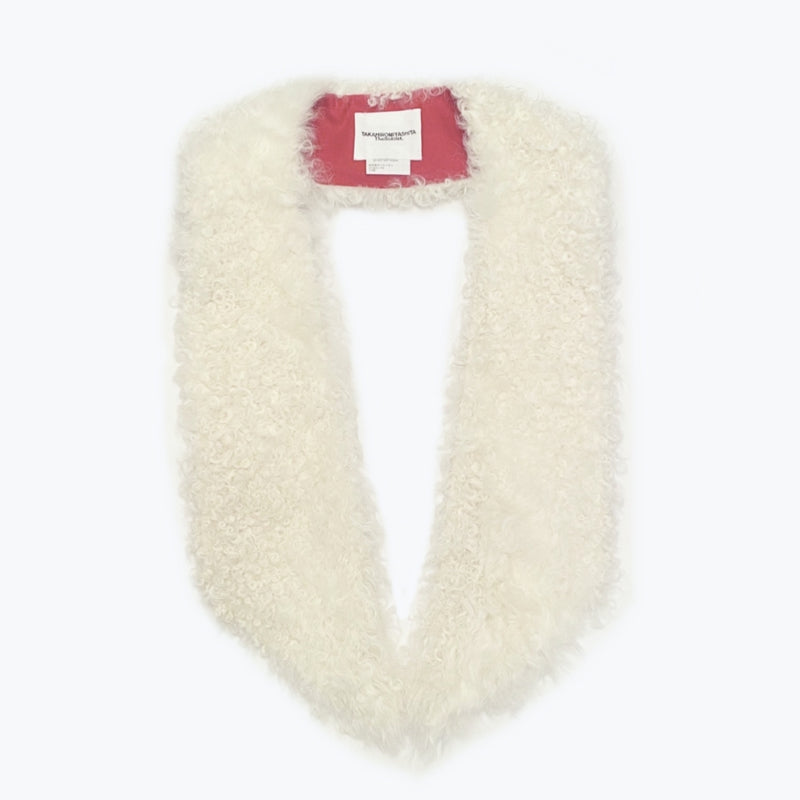 attachment angular shawl fur collar.