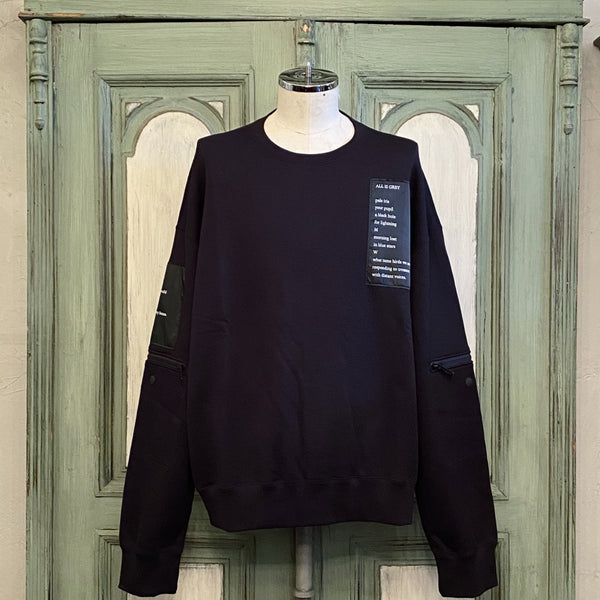 oversized crew neck sweatshirt.