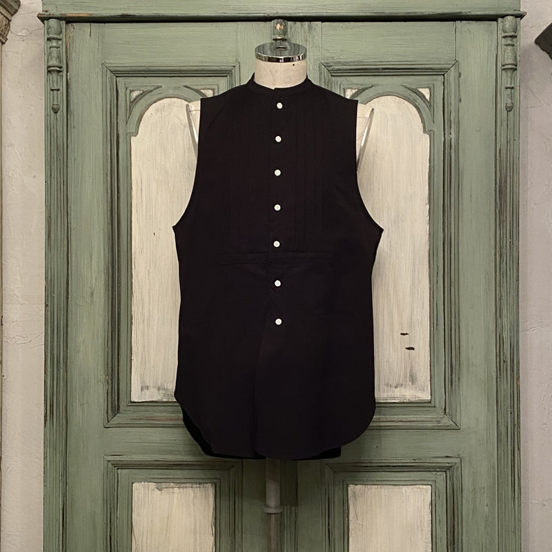 band collar sleeveless shirt. type 1